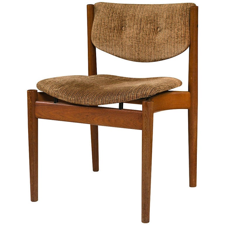 Mid century side chair by jens risom at 1stdibs - Jens risom side chair ...
