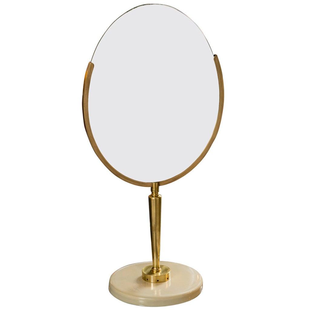 Mid century vanity mirror on stand at 1stdibs for Mirror on mirror