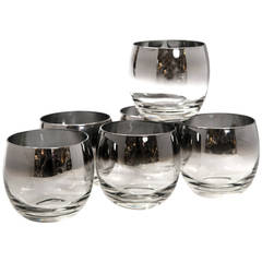 Mid-Century Set of Six Roly Poly Glasses D. O. F