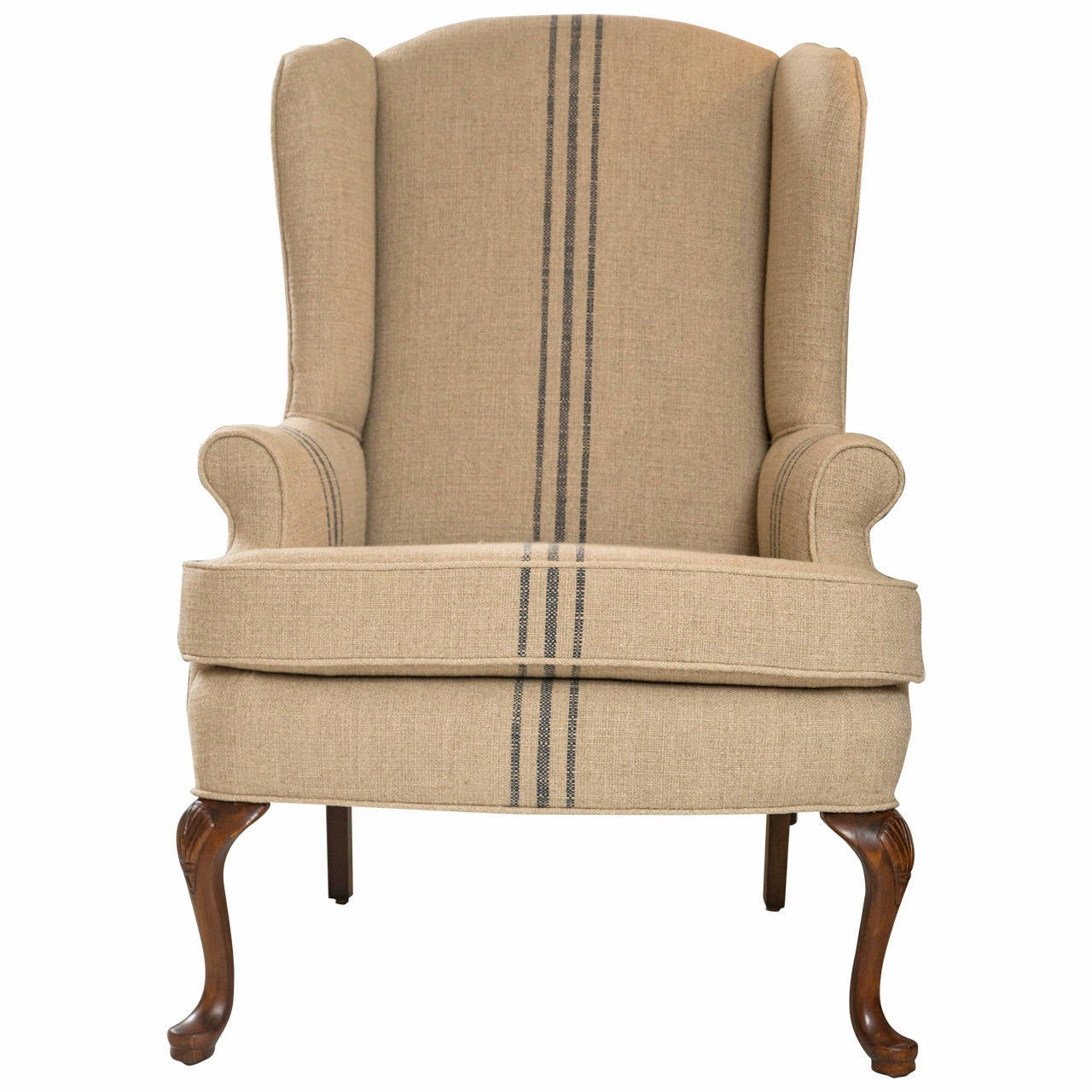 Classic mid century wing chair at 1stdibs for Classic mid century chairs