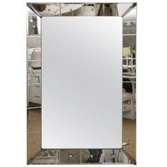 Oversize Zinc Cornered Mirror