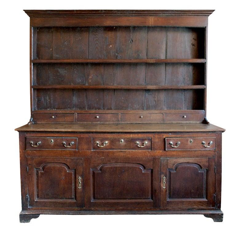 Dark Wood Welsh Dresser: Welsh Dresser, C. 1700s At 1stdibs