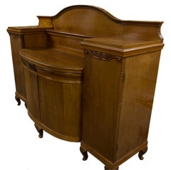 Blonde Mahogany Neoclassical Centerpiece Server