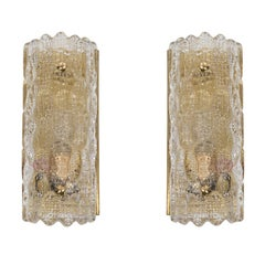 Geffion Mid-Century Modern Sconces by Carl Fagerlund for Orrefors