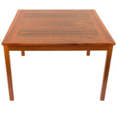 Teak and Jacaranda Scandinavian Modern Side Table