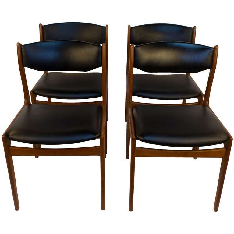 Set of Four Danish Modern Dining Chairs