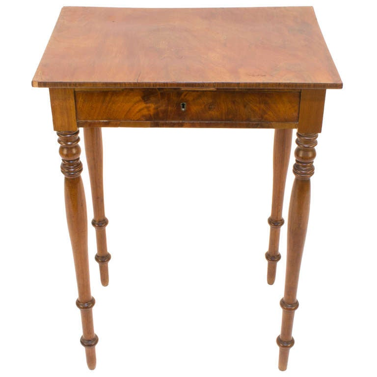 French Walnut and Fir Renaissance Revival Occasional Table