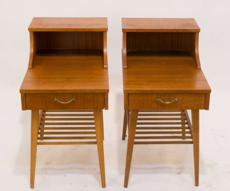 Mid-20th Century Scandinavian Modern Night Tables For Sale