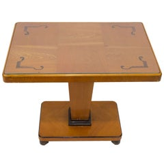 Art Deco Intarsia Coffee Table