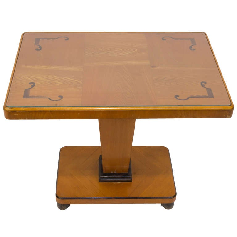 Art Deco Intarsia Coffee Table For Sale