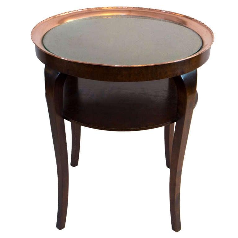 Jugendstil Hammered Copper Smoking Table