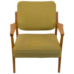 Mid-Century Modern Armchair in Vintage Upholstery