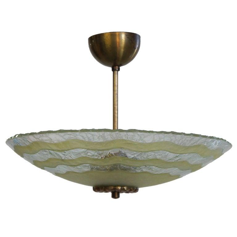 Art Glass Light Fixture