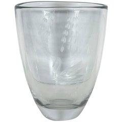 Leda and the Swan Mythology Crystal Vase
