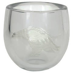 Periphas Kosta Boda Eagle Crystal Vase
