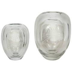 """Callisto Myth"" Crystal Vases"