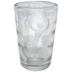 Nautical Amphitrite Orrefors Crystal Vase