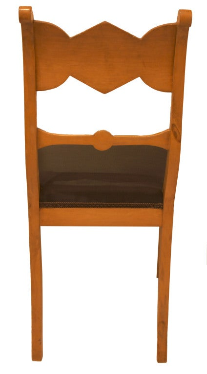 Set of Six Biedermeier Dining Chairs In Good Condition For Sale In New York, NY