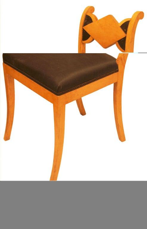 Swedish Set of Six Biedermeier Dining Chairs For Sale