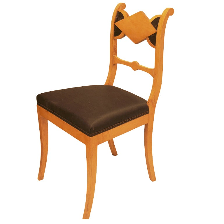 Set of Six Biedermeier Dining Chairs at 1stdibs
