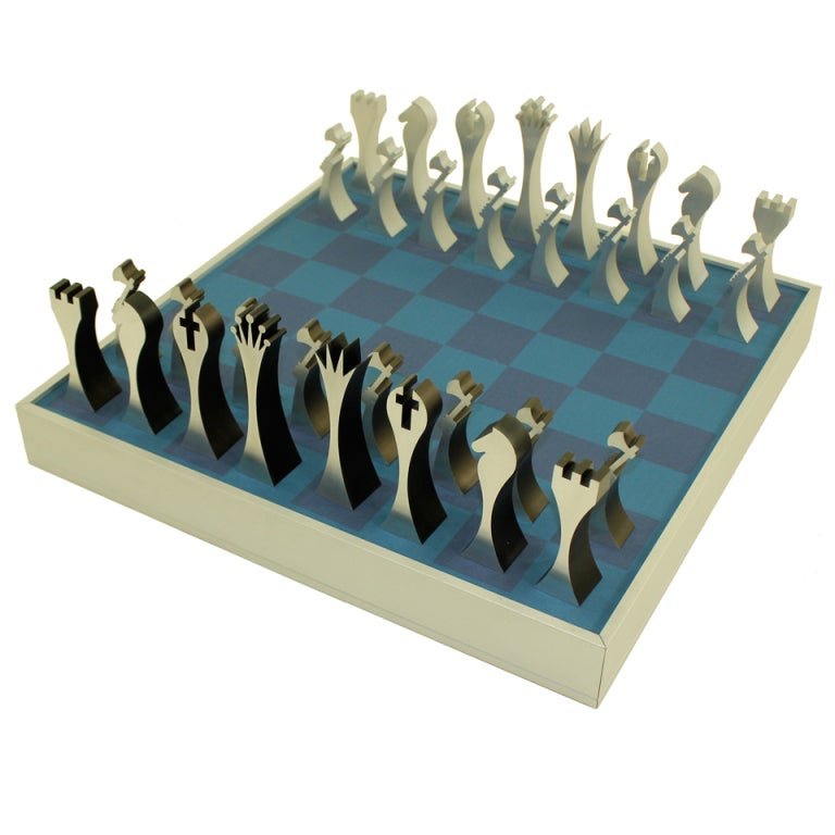 Modern Chess Set Designed By Scott Wolfe At 1stdibs