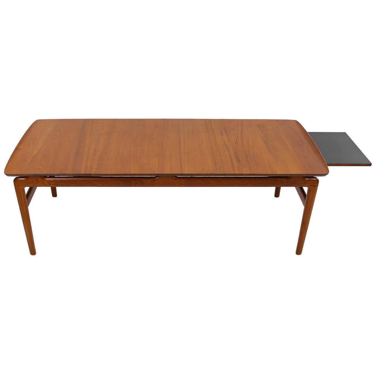 Solid teak danish modern coffee table designed by peter for Danish modern coffee table