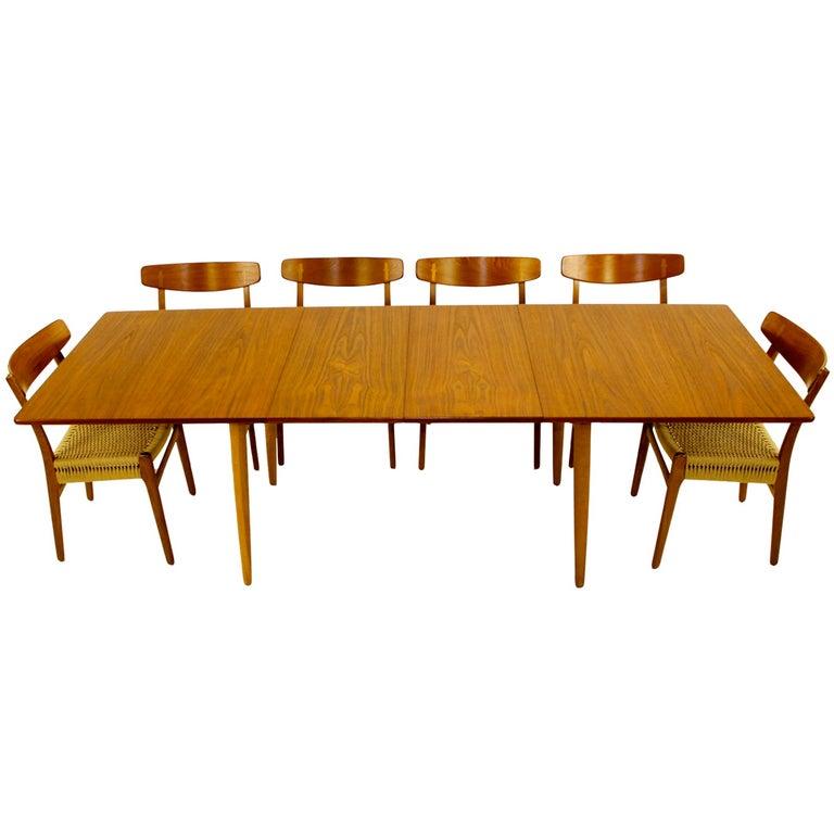 impressive danish modern dining set designed by hans