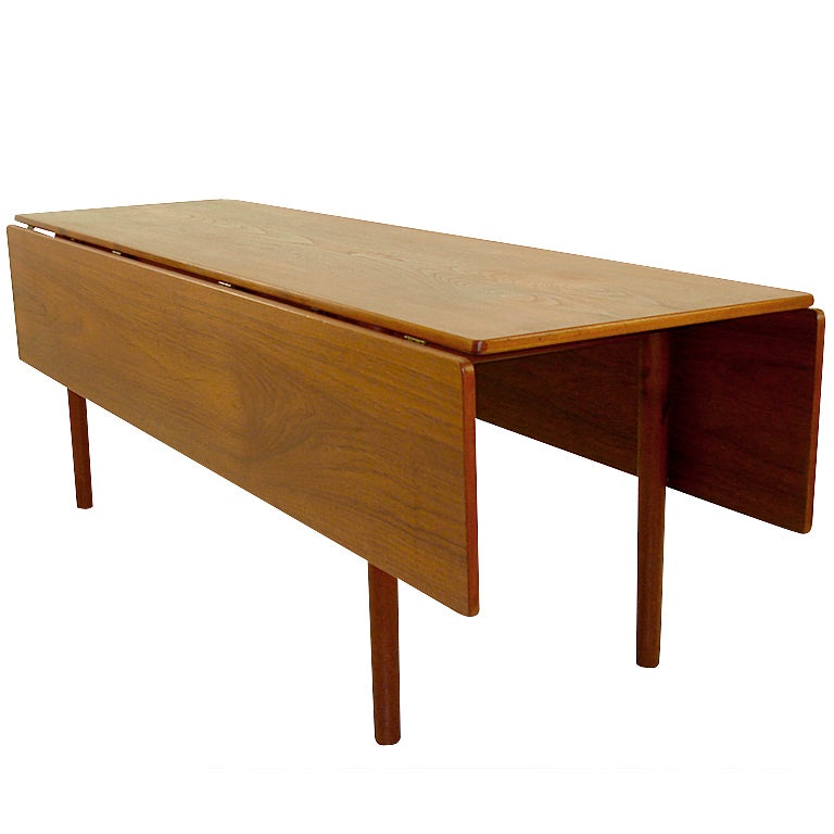 Danish modern teak harvest style dining table by borge for New style dining table