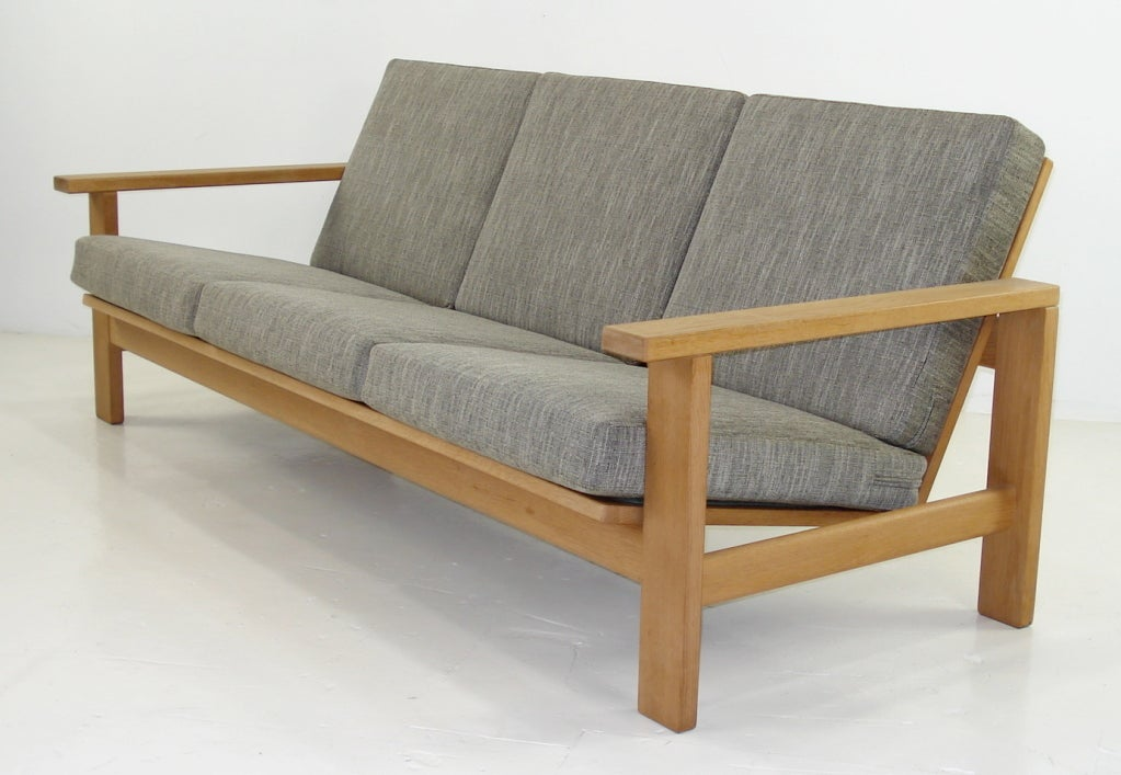 Classic Hans Wegner Danish Modern Sofa and Chair Set at 1stdibs
