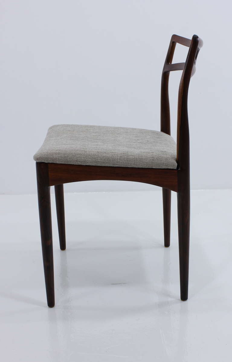 elegant danish modern rosewood dining set designed by