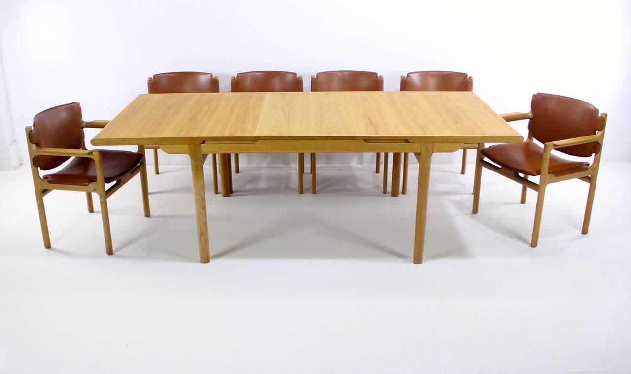 danish modern oak dining set designed by s ren willadsen for sale at