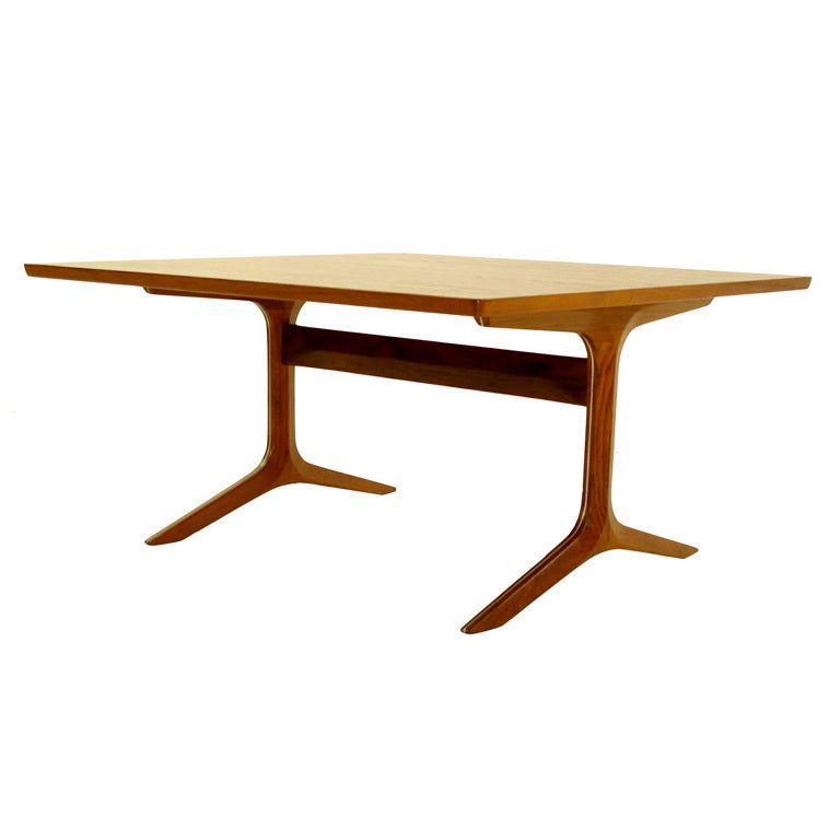 Extremely rare peter hvidt silver line coffee side table for Extremely exotic coffee tables