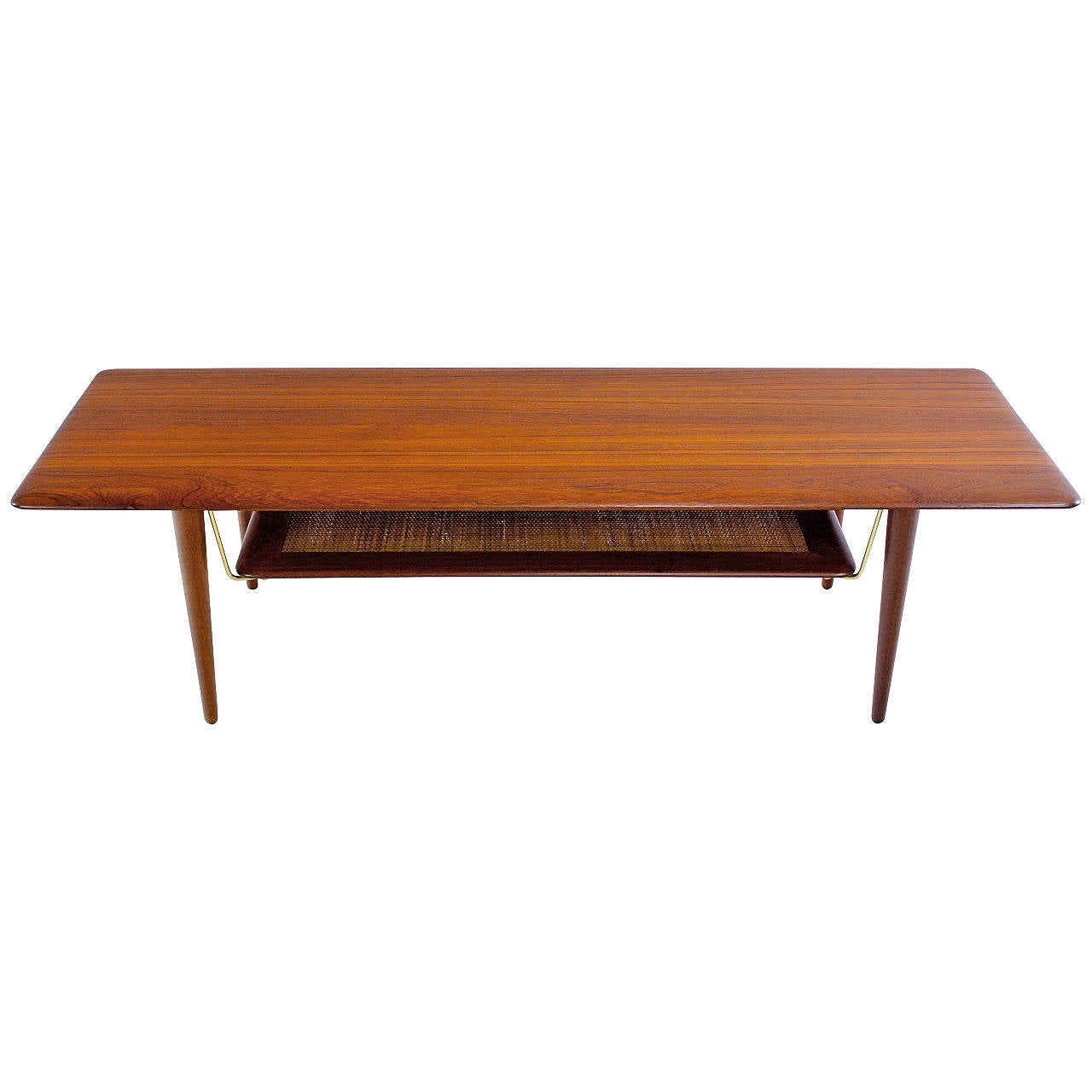 Danish modern solid teak cocktail or coffee table designed by peter hvidt at 1stdibs Modern teak coffee table