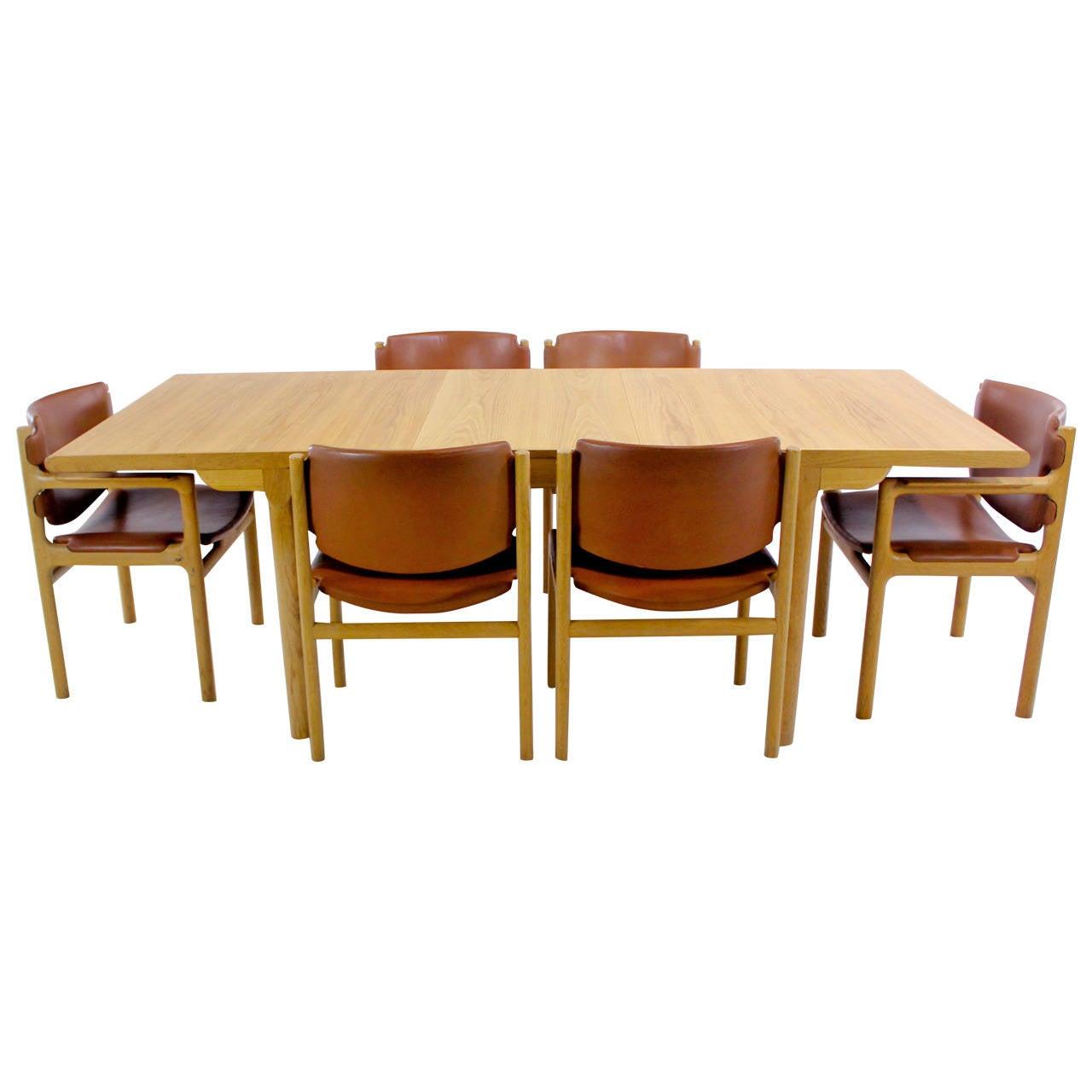 danish modern oak dining set designed by s 248 ren willadsen