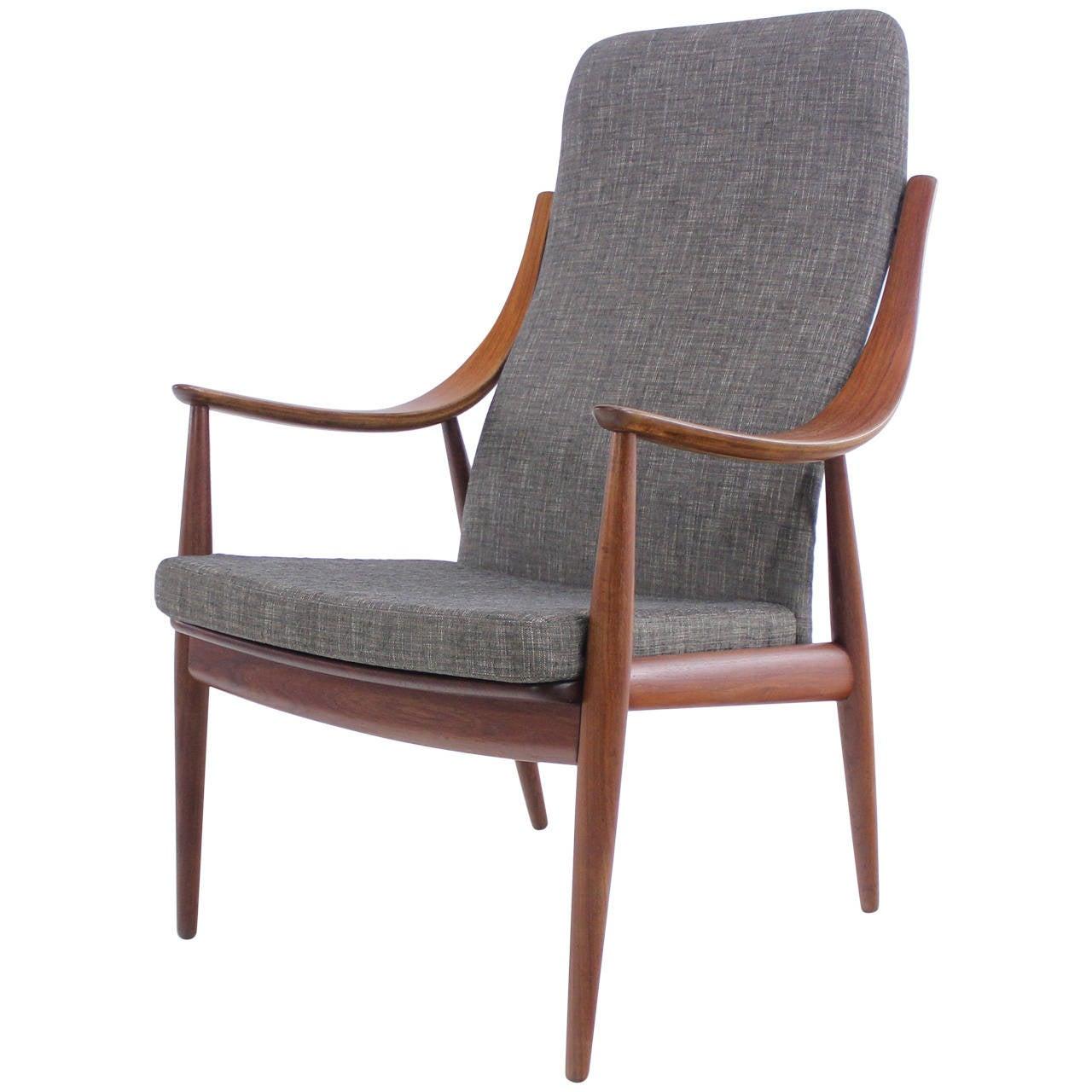 danish modern teak armchair designed by peter hvidt at 1stdibs