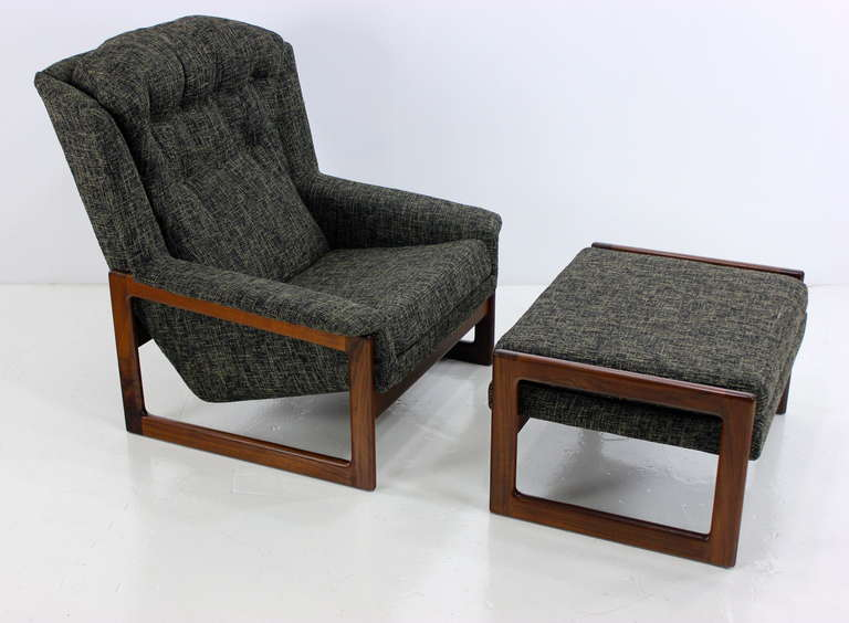 Mid Century Modern Armchair / Lounge Chair And Ottoman By Dux For Sale At  1stdibs