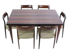Exceptional Danish Modern Rosewood Dining Set Designed by JL Moller