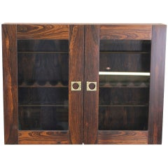 Danish Modern Rosewood Pipe Cabinet Designed by Arne Vodder