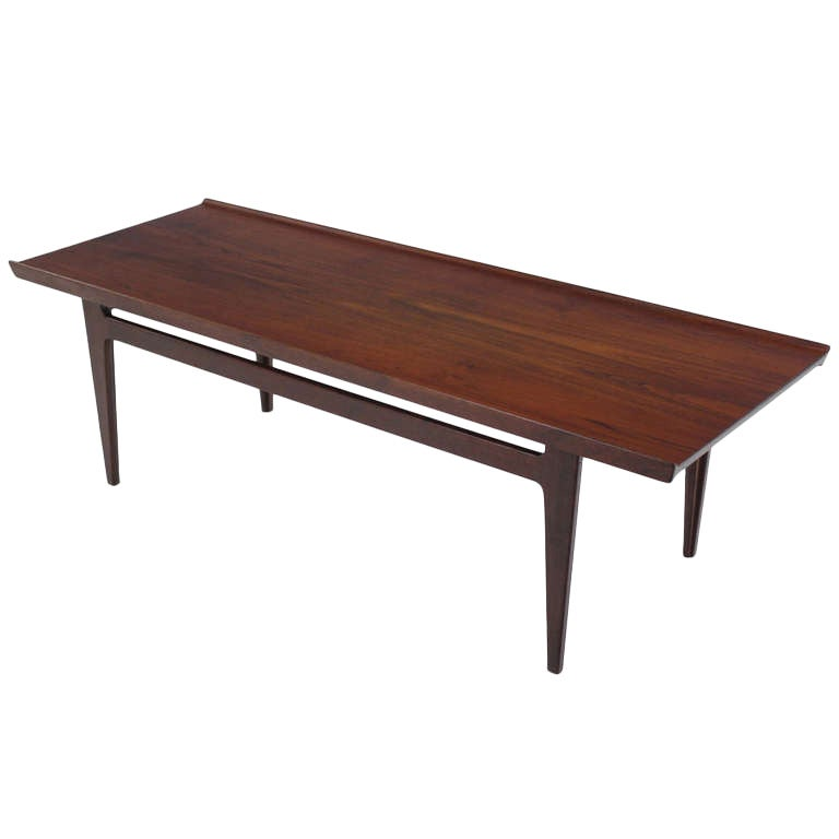 Danish Modern Solid Teak Coffee Table Designed By Finn Juhl At 1stdibs