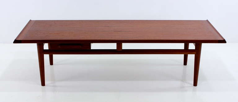 Sleek danish modern teak coffee table for sale at 1stdibs Sleek coffee table