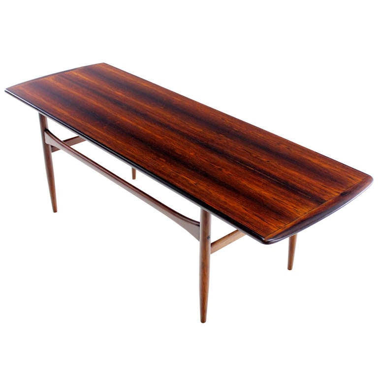 Danish Modern Rosewood Coffee Table Designed By Tova And