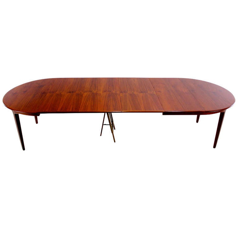 Expansive Danish Modern Dining Table Designed By Kofod