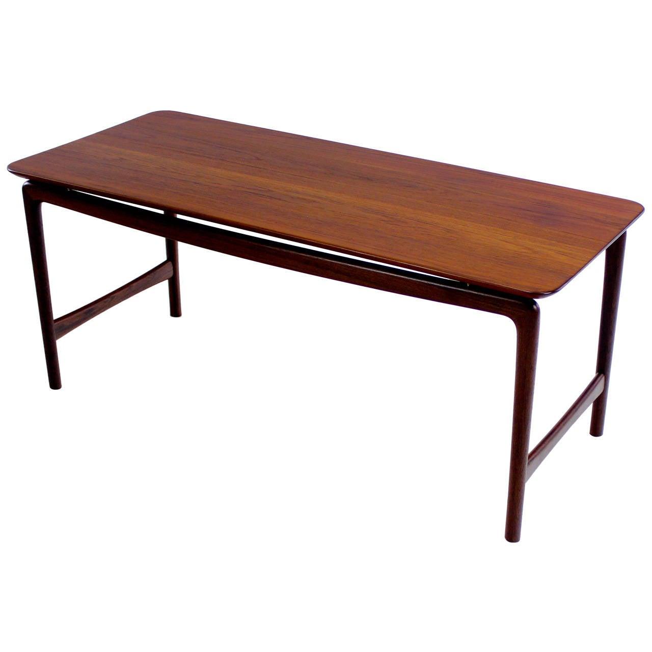 Danish Modern Teak Coffee Table Designed By Peter Hvidt At 1stdibs