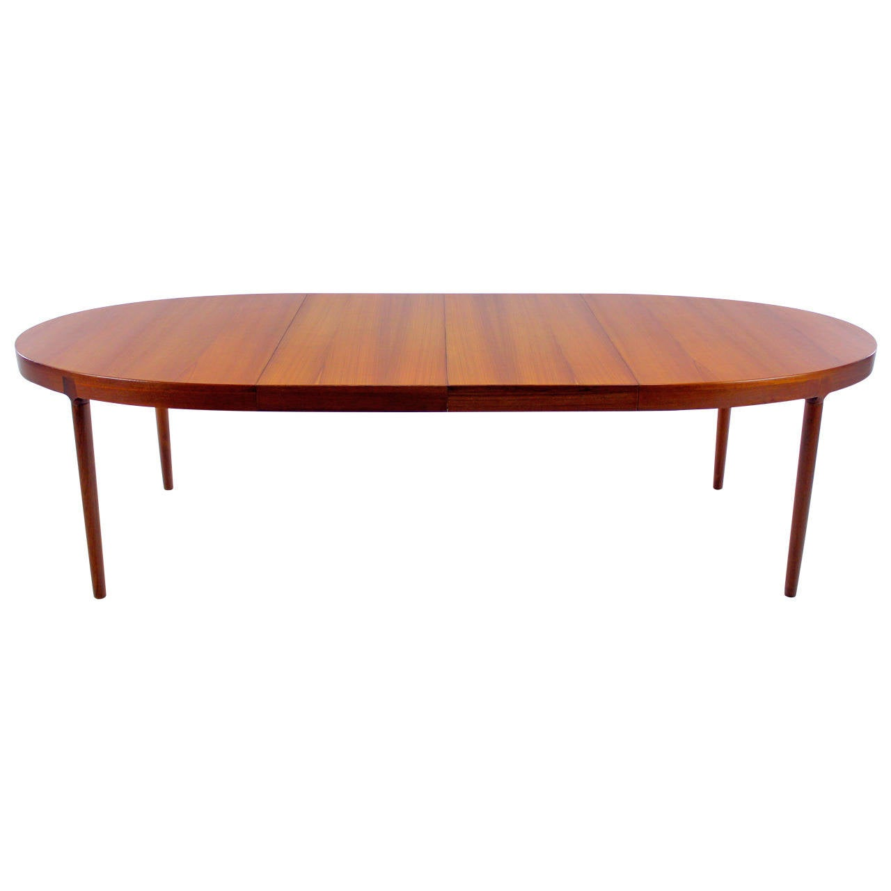 Danish modern oval teak dining table designed by harry for Dining table harry styles