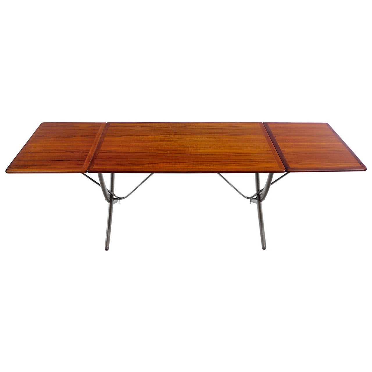Exceptional Danish Modern Teak And Oak Drop Leaf Dining