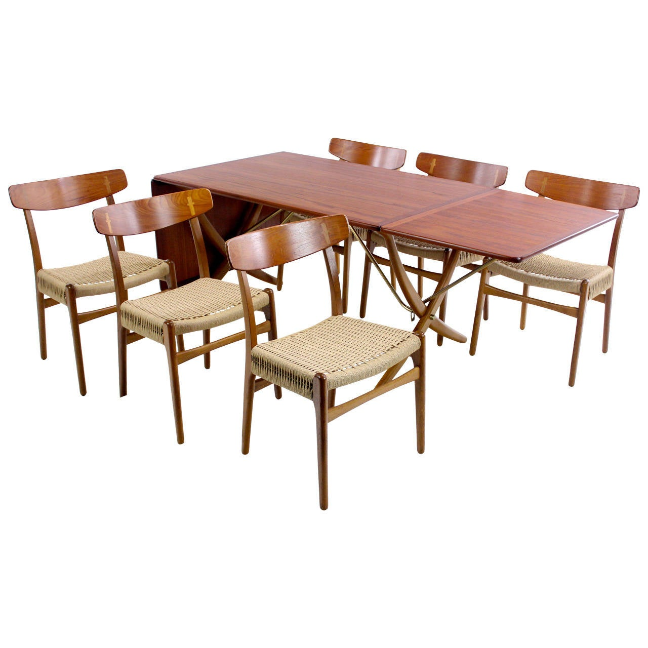 impressive danish modern teak and oak dining set designed