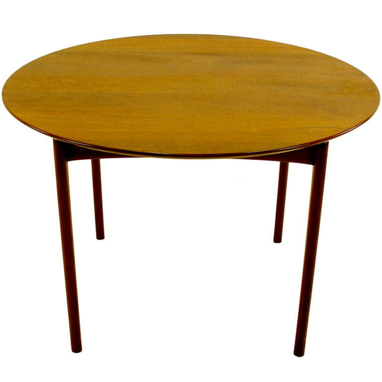 Danish Modern Solid Teak Dining Table by Peter Hvidt at  : 1050ll from www.1stdibs.com size 768 x 768 jpeg 28kB