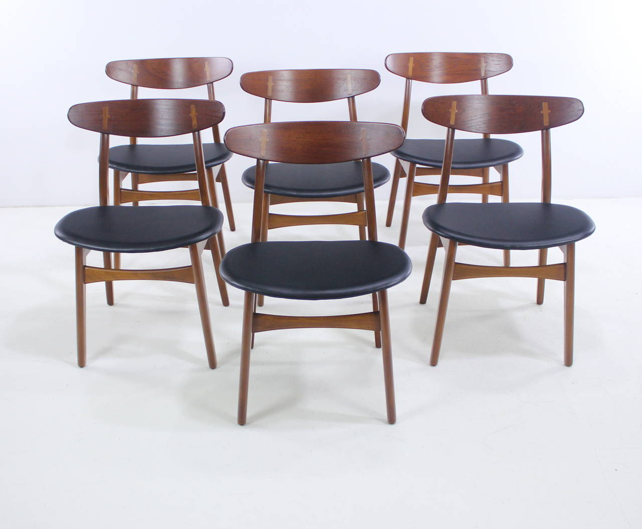 danish modern teak dining set designed by hans wegner for