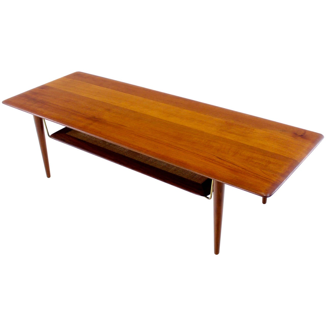 Danish modern teak coffee table designed by peter hvidt at 1stdibs Modern teak coffee table