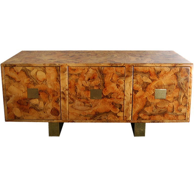 Oyster Burl Wood Sideboard At 1stdibs